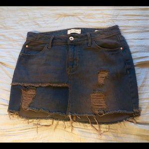 Jessica Simpson distressed denim mini skirt